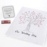 Pink Finger Print Guest Tree - Wedding Boutique