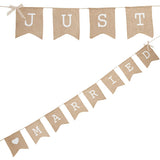 Hessian Just Married Bunting - Wedding Boutique