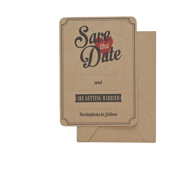 Kraft Save The Dates - Wedding Boutique