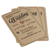 Kraft Wedding Evening Invitations - Wedding Boutique
