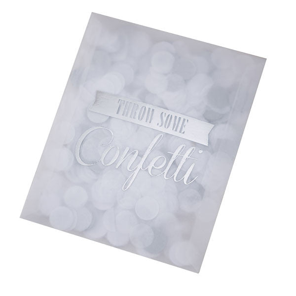 Tissue Throwing Confetti in Silver - Wedding Boutique