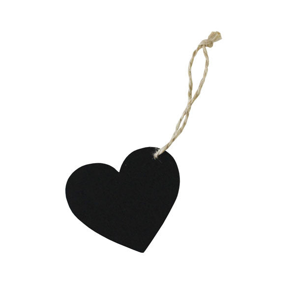 Chalkboard Heart Tags - Wedding Boutique