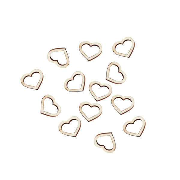 Wooden Heart Confetti - Wedding Boutique
