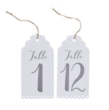 Luggage Tag Table Numbers 1-12 - Wedding Boutique