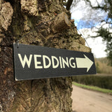 Small Black Wedding Sign - Wedding Boutique