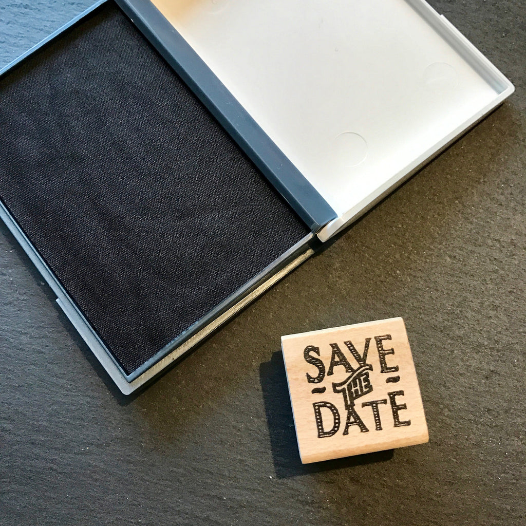 Save The Date Stamp & Ink Pad - Wedding Boutique