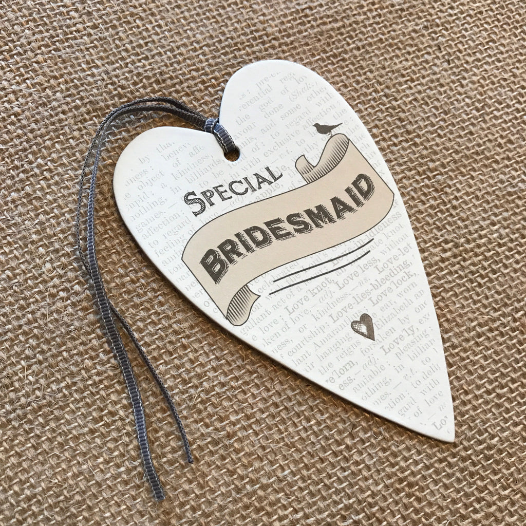 Special Bridesmaid Tag - Wedding Boutique