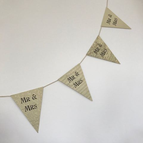 Hessian & Lace Heart Bunting