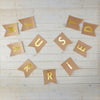 Kraft & Gold Foil Just Married Bunting - Wedding Boutique
