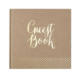 Gold Foiled Kraft Guest Book - Wedding Boutique