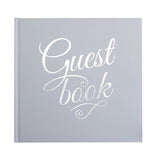 White & Silver Foiled Wedding Guest Book - Wedding Boutique