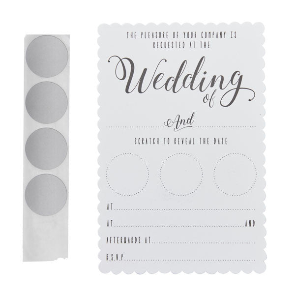 Scratch & Reveal Wedding Invitations - Wedding Boutique