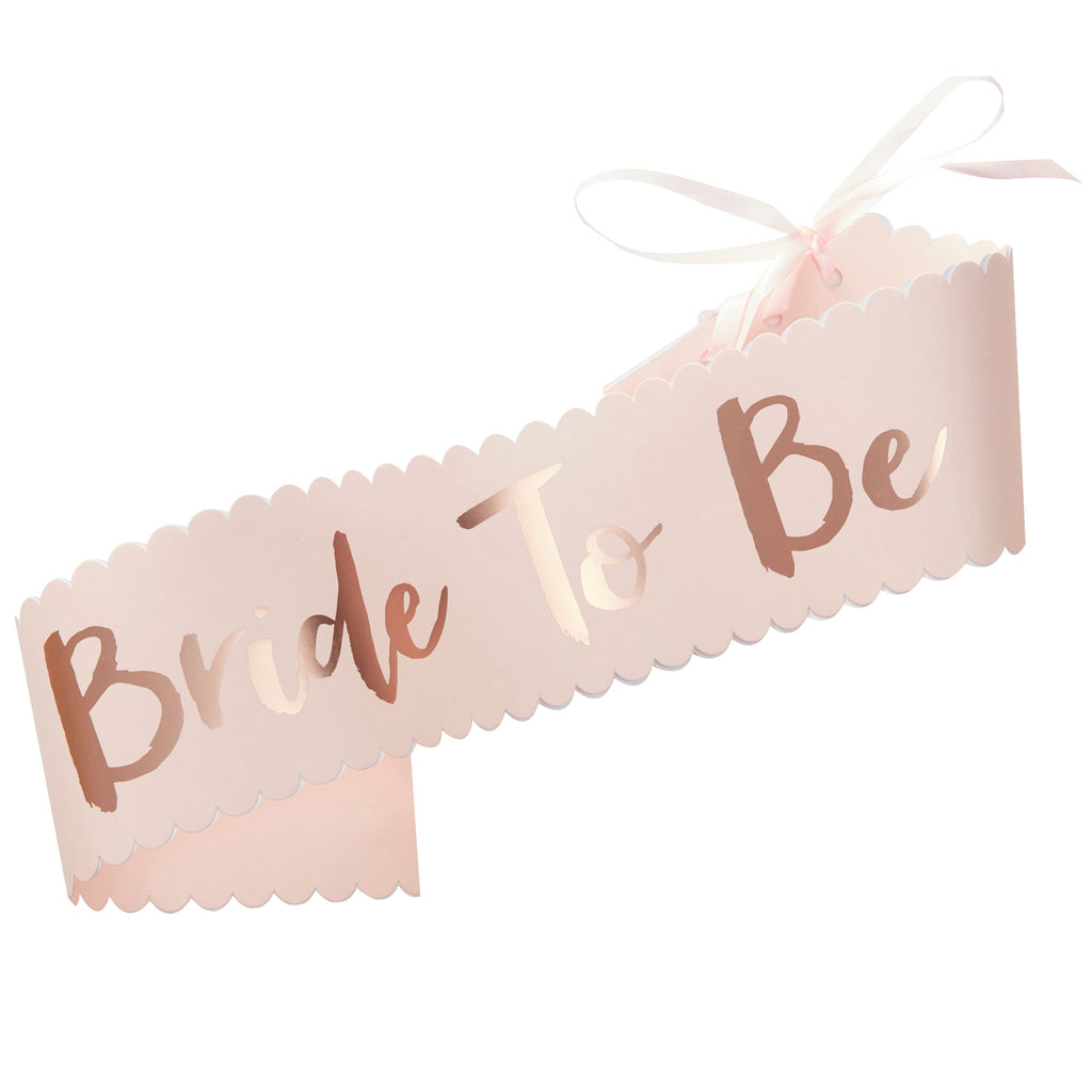 "Team Bride ""Bride To Be"" Sash - Wedding Boutique"