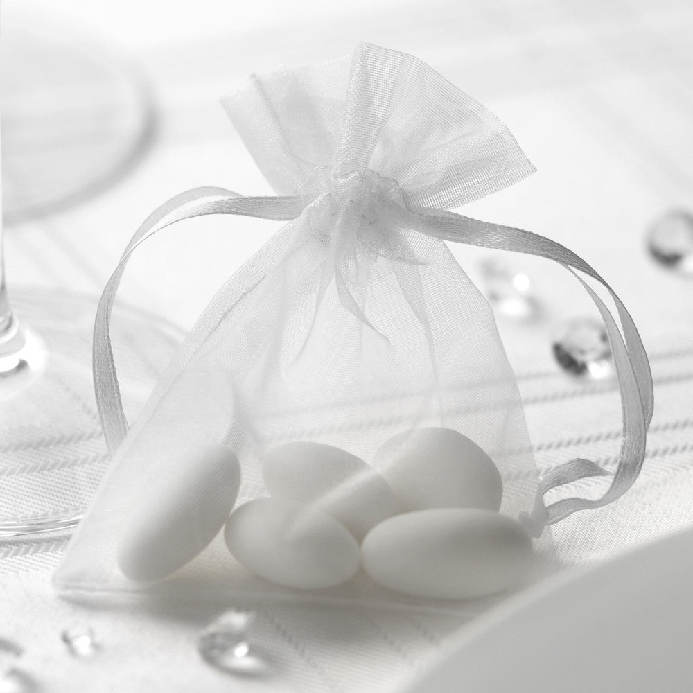 Organza Favour Bags in White - Wedding Boutique