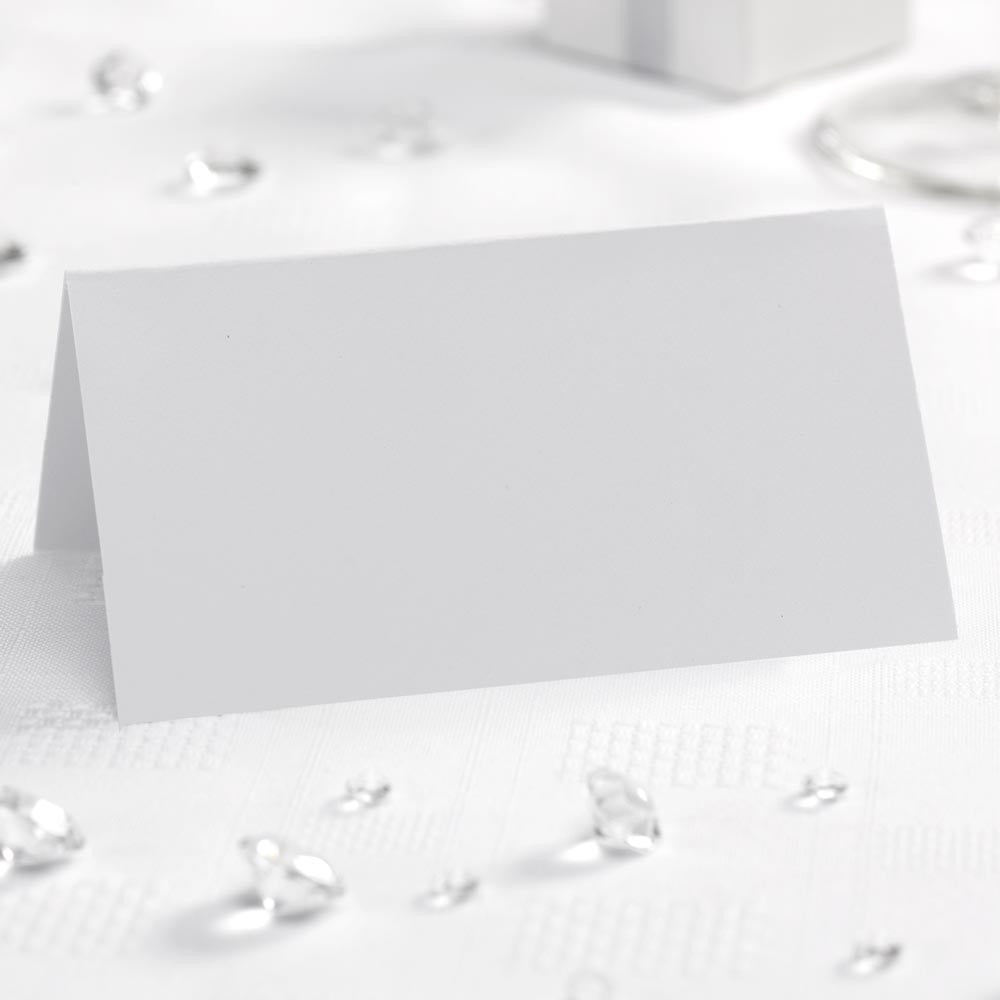 Simple White Place Cards x50 - Wedding Boutique