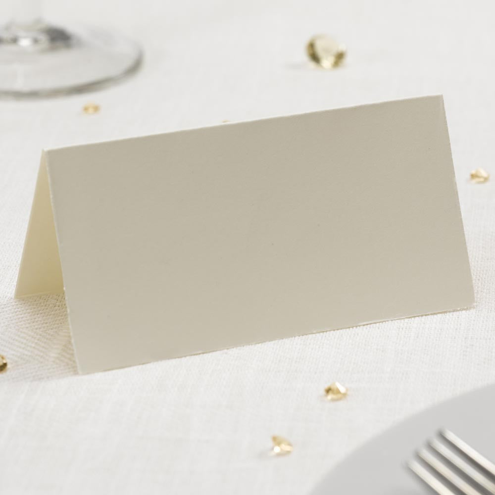 Simple Ivory Place Cards x50 - Wedding Boutique