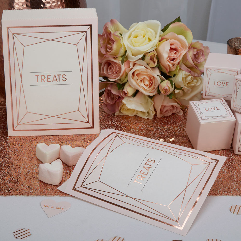 Geo Blush Candy Bags - Wedding Boutique
