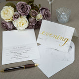 Scripted Marble Evening Invitations x10 - Wedding Boutique