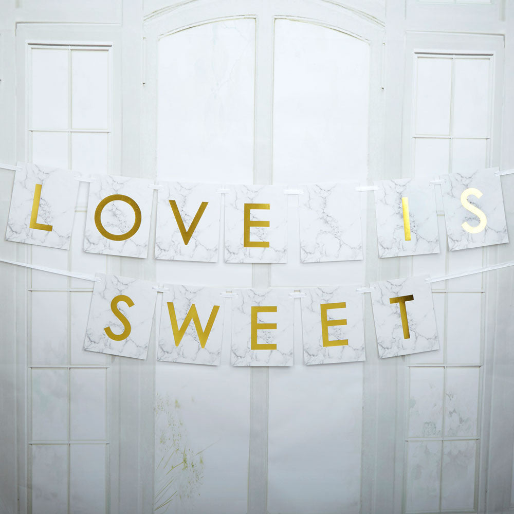 Scripted Love is Sweet Bunting - Wedding Boutique