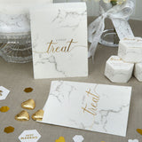 Scripted Marble Candy Bags - Wedding Boutique
