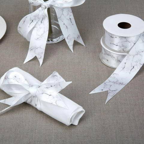 Grogsrain Ribbon in White