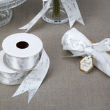Scripted Marble Ribbon 38mm - Wedding Boutique
