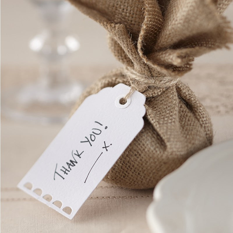 White Luggage Tag Place Cards - Wedding Boutique