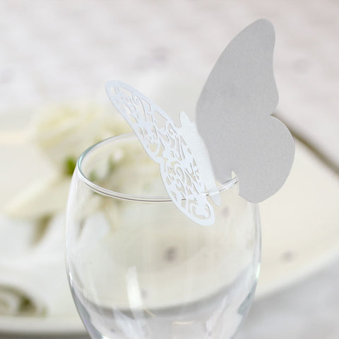 Simple White Place Cards x50