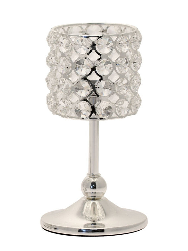 Crystal Candle Holder 20cm - Wedding Boutique
