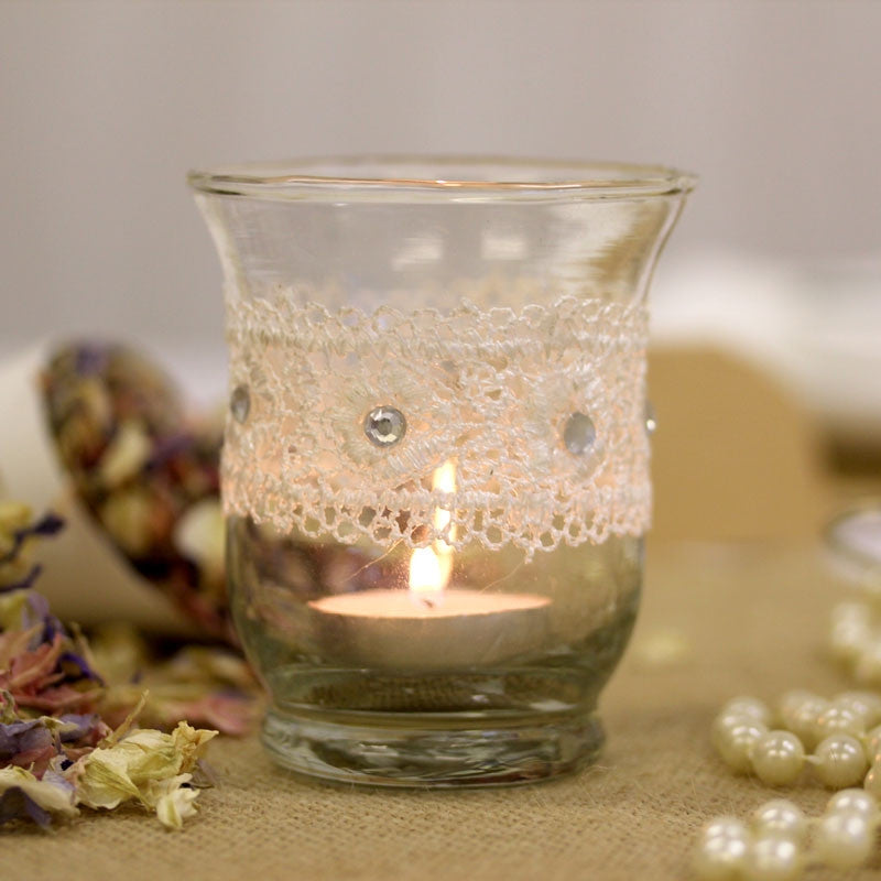 Lace Vintage Tea Light Holder - Wedding Boutique