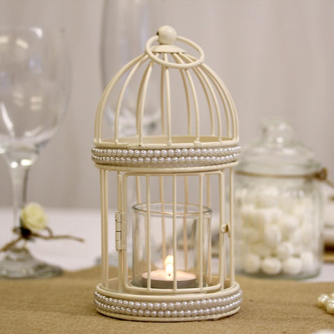 Cream Cut Out Table Lantern
