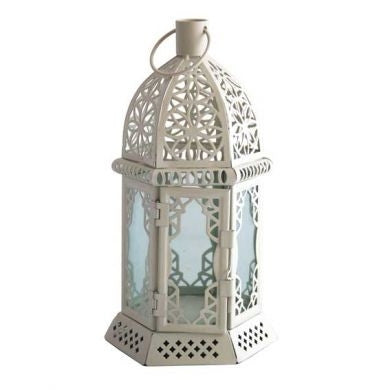 Cream Cut Out Table Lantern - Wedding Boutique