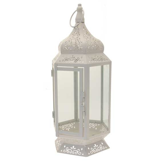 Cream & Glass Lantern - Wedding Boutique