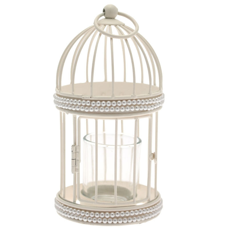 Pearl Birdcage Tea Light Holder - Wedding Boutique