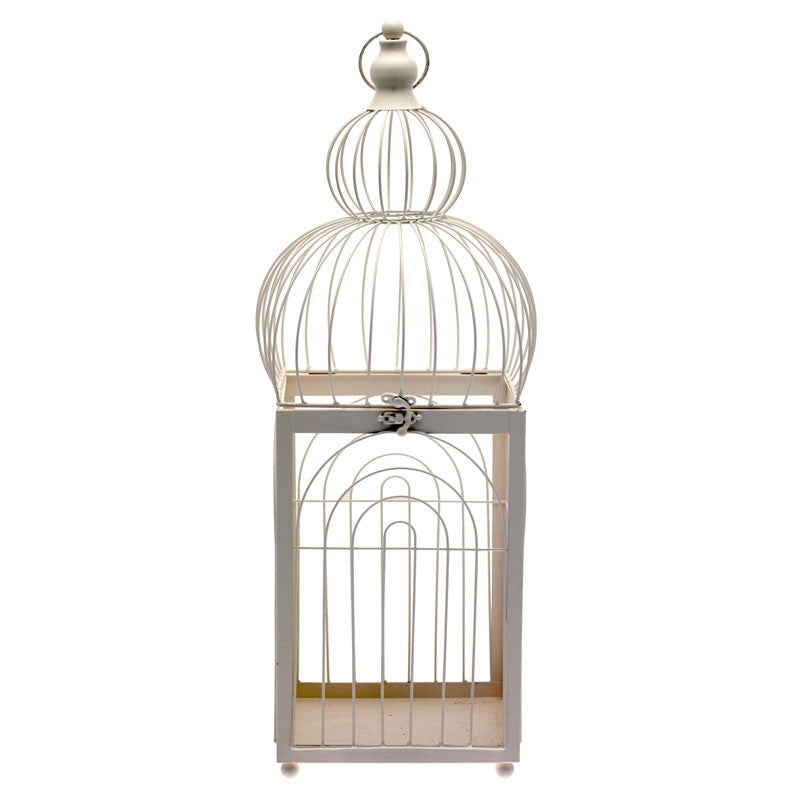 Large Dome Cream Birdcage - Wedding Boutique