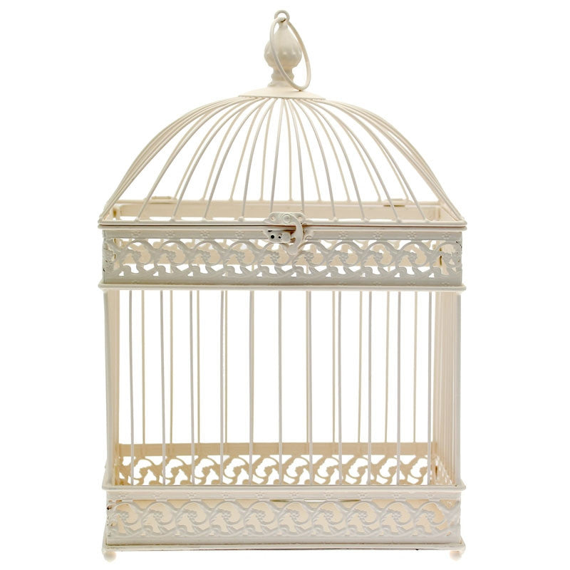 Rectangular Birdcage in Cream - Wedding Boutique
