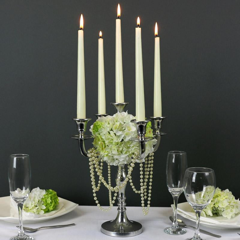 Silver Candelabra 60cm - Wedding Boutique