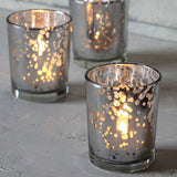 Silver Speckle Tea Light Votive - Wedding Boutique