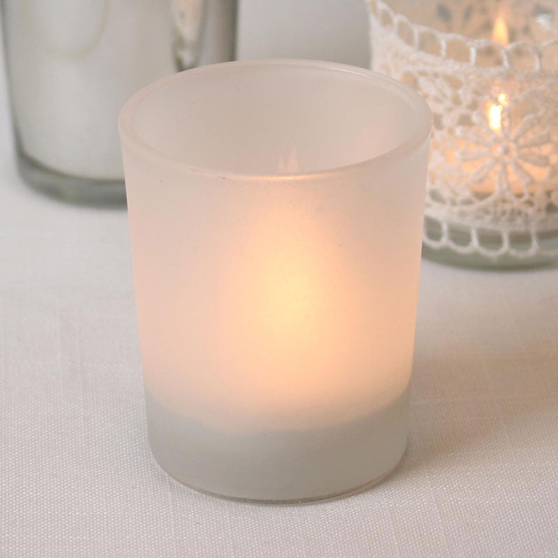 Glass Frosted Tea Light Holder - Wedding Boutique