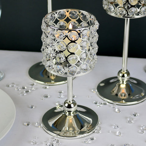 Glass Frosted Tea Light Holder