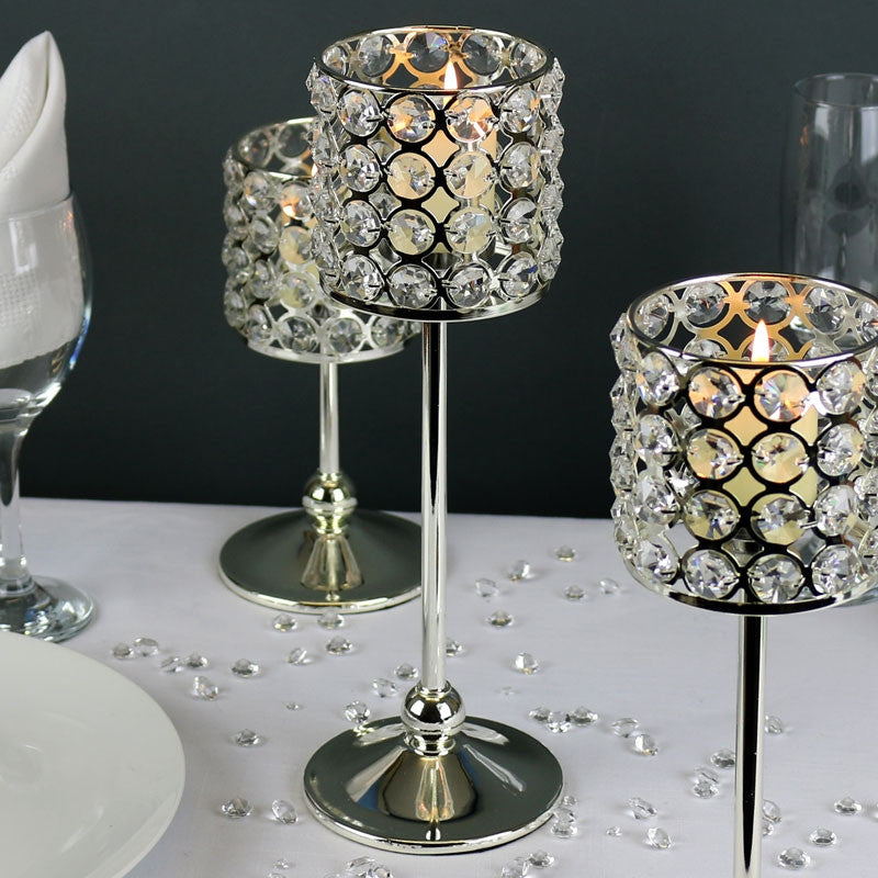Crystal Candle Holder 30cm - Wedding Boutique