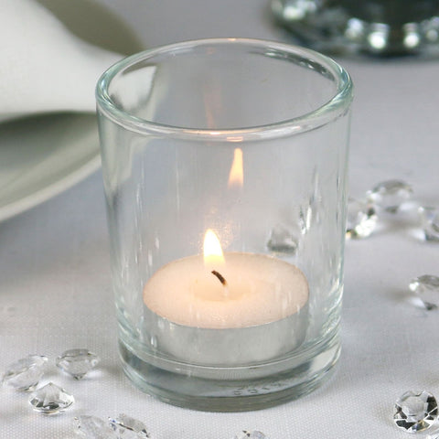 Embellished White Tea Light Holder