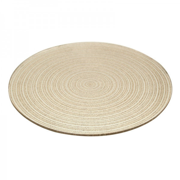 Gold Swirl Mirror Plate - Wedding Boutique
