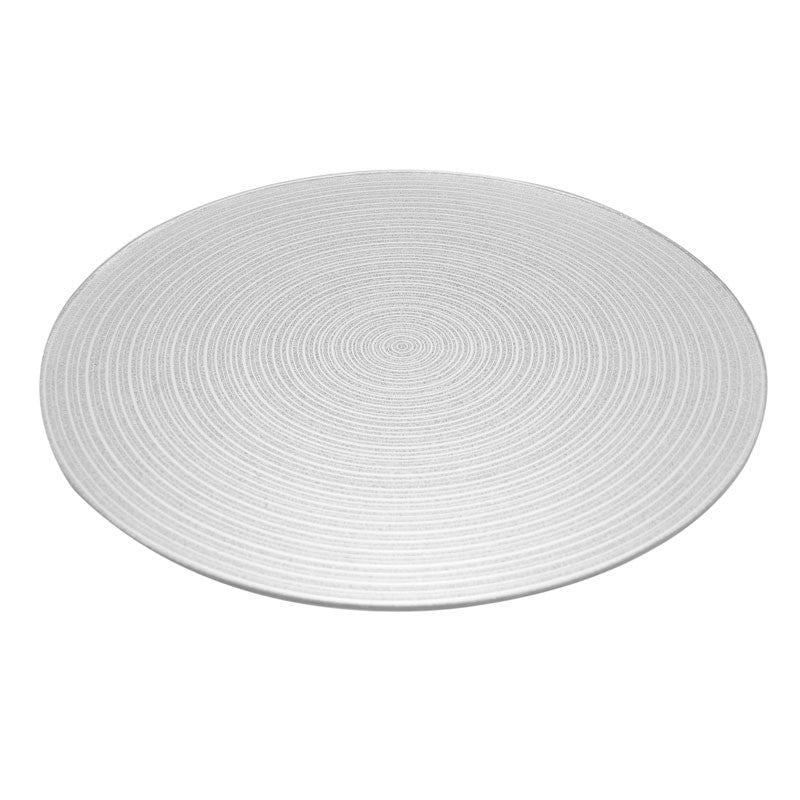 Silver Swirl Mirror Plate 25cm - Wedding Boutique