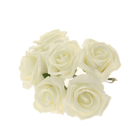 Cream Tea Rose Bunch x12