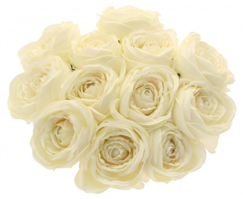 Cream Tea Rose Bunch x12 - Wedding Boutique