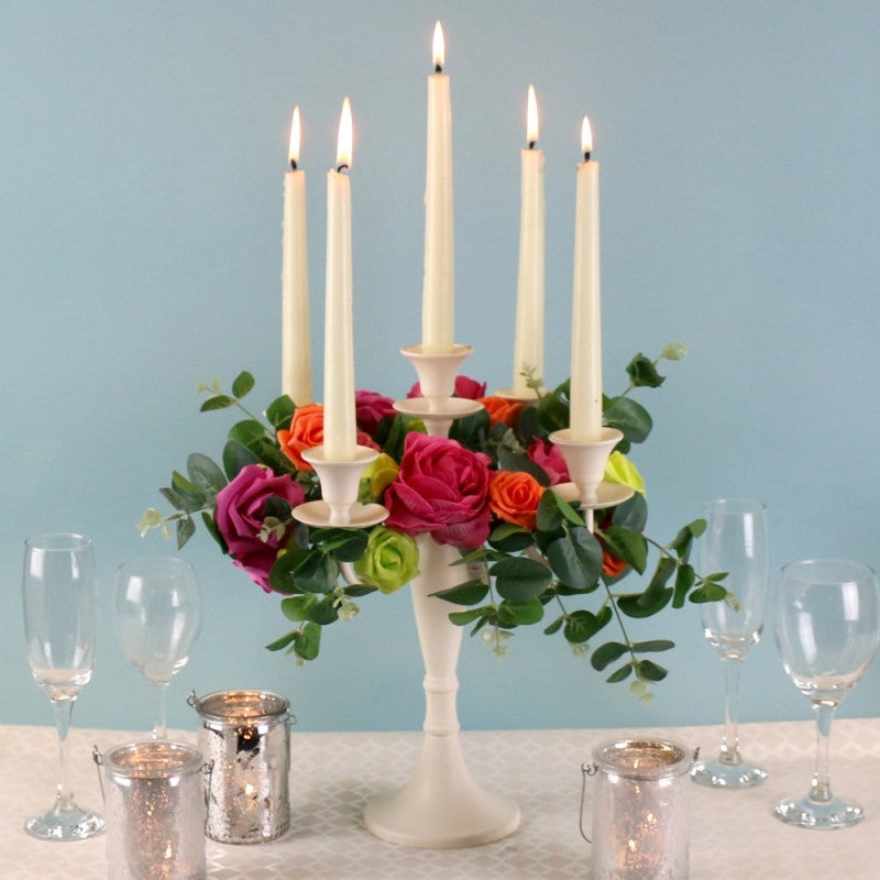 Cream Candelabra 36cm - Wedding Boutique
