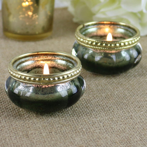 Gold Speckle Tea Light Votive