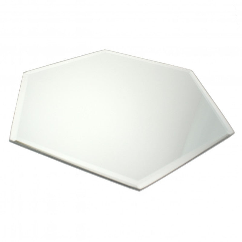 Hexagonal Mirror Plate - Wedding Boutique