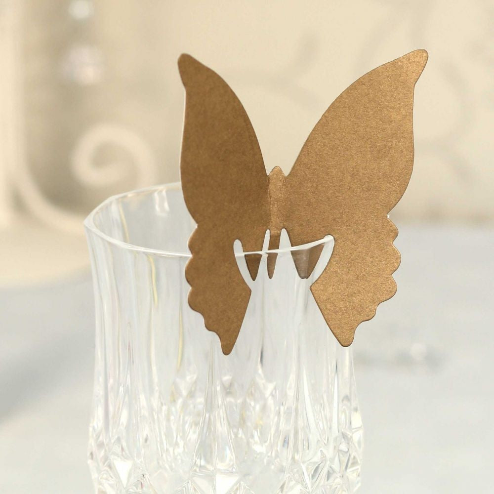 Gold Butterfly Place Cards x10 - Wedding Boutique